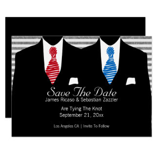 Wedding Herr-und blaues Rot-Krawatte Herr-Suit Karte