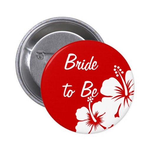 Wedding Hibiskus-Blumen Buttons