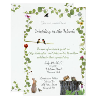Wedding im Holz: Einladung