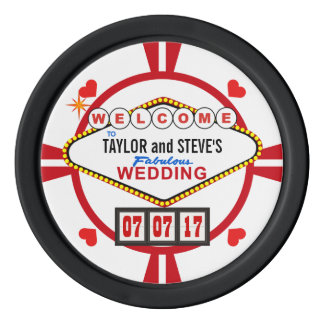 Wedding in den poker chips