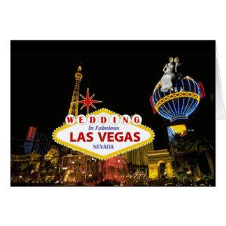 Wedding in fabelhaftem Las Vegas mit Braut u. Karte