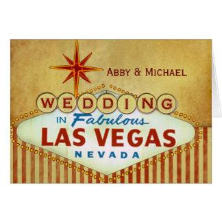Wedding in fabelhaftem Las Vegas - Vintage Karte