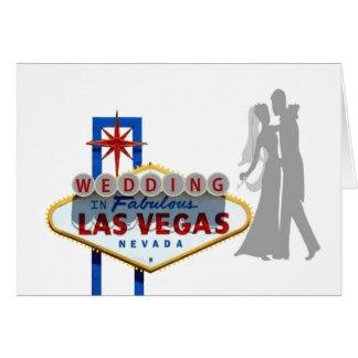 WEDDING in fabelhafter Las Vegas-Karte Karte