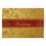 Wedding Invitation Card Folded  Indian style Grußkarte