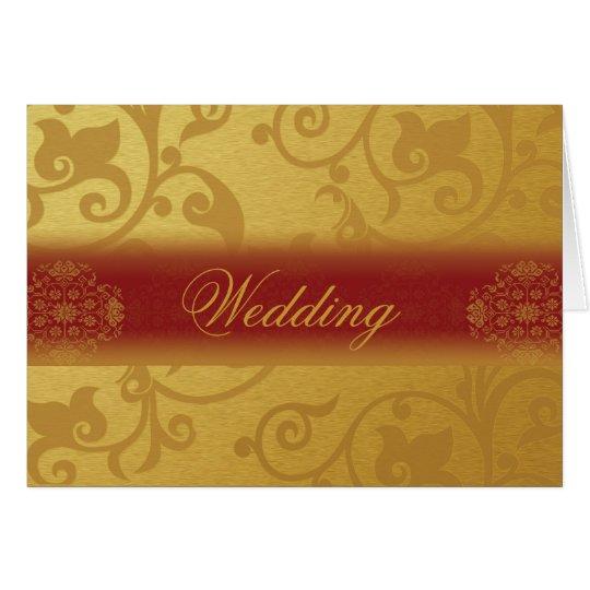 Wedding Invitation Card Folded  Indian style Karte