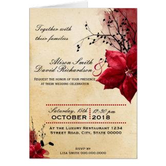 Wedding invitation with Netz flowers Karte