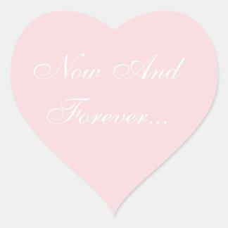 Wedding laden blasses - Rosa ein Herz-Aufkleber