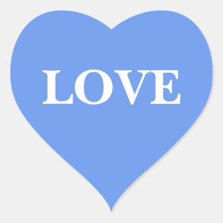 Wedding laden Cornflower-Blau ein Herz Sticker