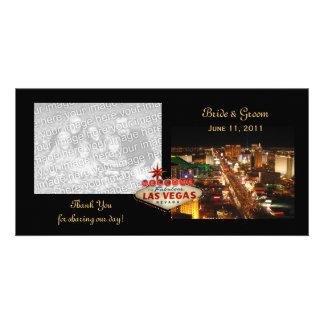 Wedding Las Vegas danken Ihnen Foto-Karten Individuelle Photo Karten
