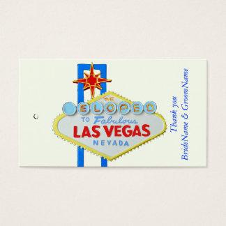 Wedding Las Vegas danken Ihnen Geschenk-Umbau Visitenkarte