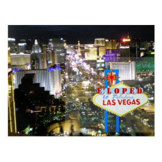 Wedding Las Vegas Eloped wir Postkarte