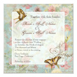 Wedding Les Fleurs Quadratische 13,3 Cm Einladungskarte