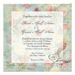 Wedding Les Fleurs Personalisierte Einladungskarte