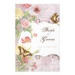 Wedding Les Fleurs Pfingstrosen-Rosen-Tulpe-Blumen 14 X 21,6 Cm Flyer