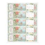 Wedding Les Fleurs Pfingstrosen-Rosen-Tulpe-Blumen 21,6 X 27,9 Cm Flyer