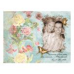 Wedding Les Fleurs Pfingstrosen-Rosen-Tulpe-Blumen Vollfarbige Flyer