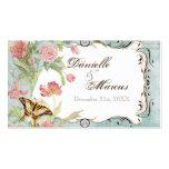 Wedding Les Fleurs Visitenkarten Vorlage