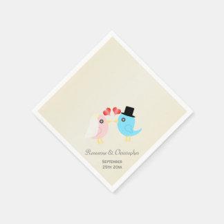 Wedding Liebe-Vögel Serviette