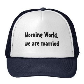 Wedding lustige Heirat Retro Cap
