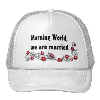 Wedding lustige Heirat Trucker Caps