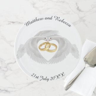 Wedding personalisiert tortenplatte