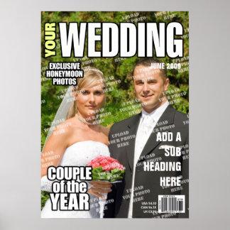 Wedding personalisiertes Titelseite Poster