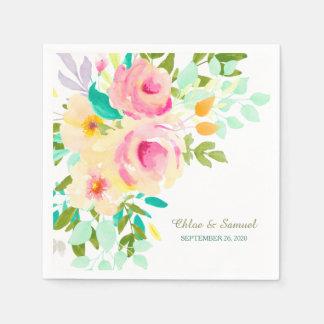 Wedding Pfirsich-rosa Rosen Papierservietten