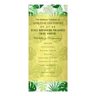 Wedding programmiert   exotisches grünes werbekarte