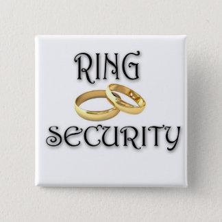 """Wedding """"RING-SICHERHEIT """" Quadratischer Button 5,1 Cm"""