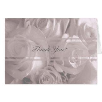 Wedding Rose-Danken Ihnen Karte