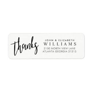 Wedding Rücksendeadresse Dank Typografie-|