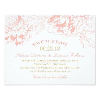Wedding Save the Date | korallenroten 10,8 X 14 Cm Einladungskarte