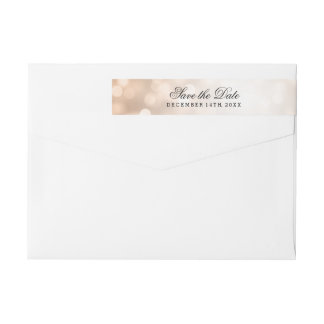Wedding Save the Date kupferne Glitter-Lichter Absender Adressband