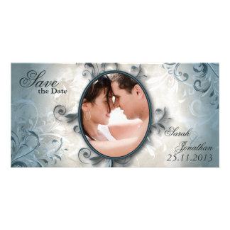 Wedding Save the Date Mitteilungs-Vintages Laub Karte