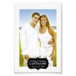 Wedding - Schwarzweiss-Grenze 4 x 6 Photographischer Druck