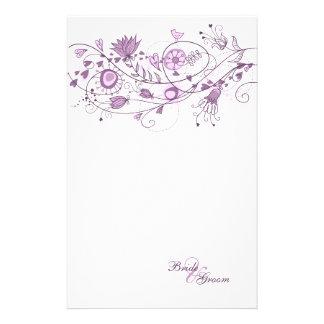 Wedding stationär - wunderlicher Lavendel 1 Bedrucktes Büropapier