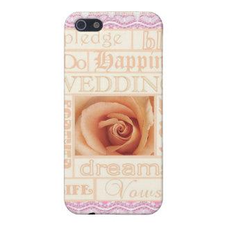 Wedding tue ich Rose u. Wörter mit Spitze Iphone 4 Hülle Fürs iPhone 5