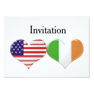 Wedding USA u. italienische 12,7 X 17,8 Cm Einladungskarte