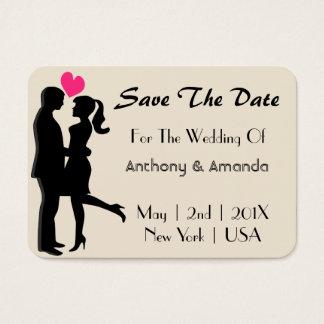 Wedding. Verlobung. Datum freihalten Jumbo-Visitenkarten