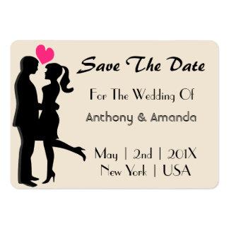 Wedding. Verlobung. Datum freihalten Mini-Visitenkarten