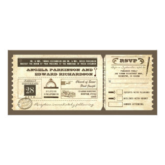 wedding Vintage Karteneinladung mit uAwgentwurf Einladungskarten
