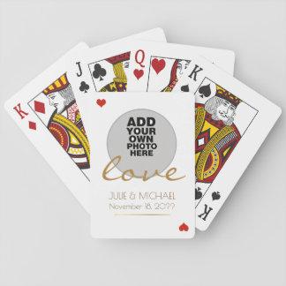 wedding Weiß des Paar-Fotos Spielkarten