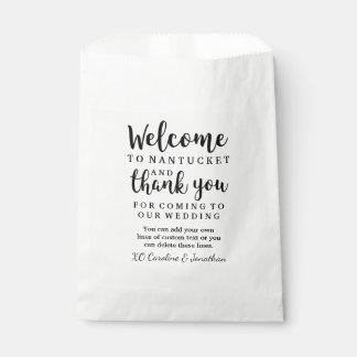 Wedding willkommen danken Ihnen Geschenktütchen