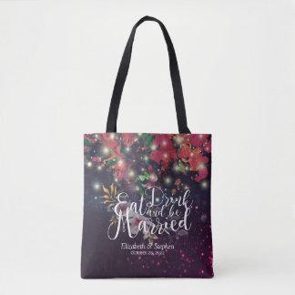 Wedding willkommene Burgunderrote Tasche
