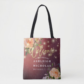 Wedding willkommene Burgunderschicke Tasche