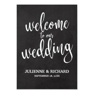 Wedding willkommenes erschwingliches Tafel-Zeichen Karte
