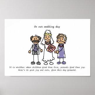 Wedding Wunsch für die Eltern der Braut Poster