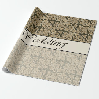 Wedding zwei Ton-beige Brokat-Packpapier Einpackpapier