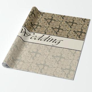 Wedding zwei Ton-beige Brokat-Packpapier Geschenkpapier