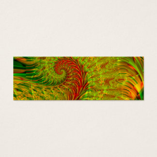 Wedel · Fraktal-Kunst · Grün u. Rot Mini Visitenkarte